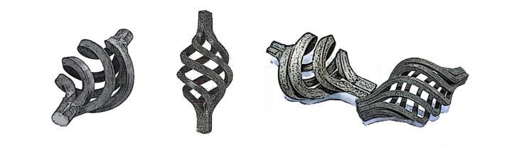 готические шишки, кованые элементы
