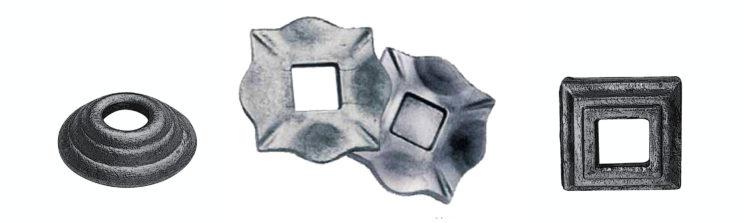 Кованые пятки, кованые элементы.